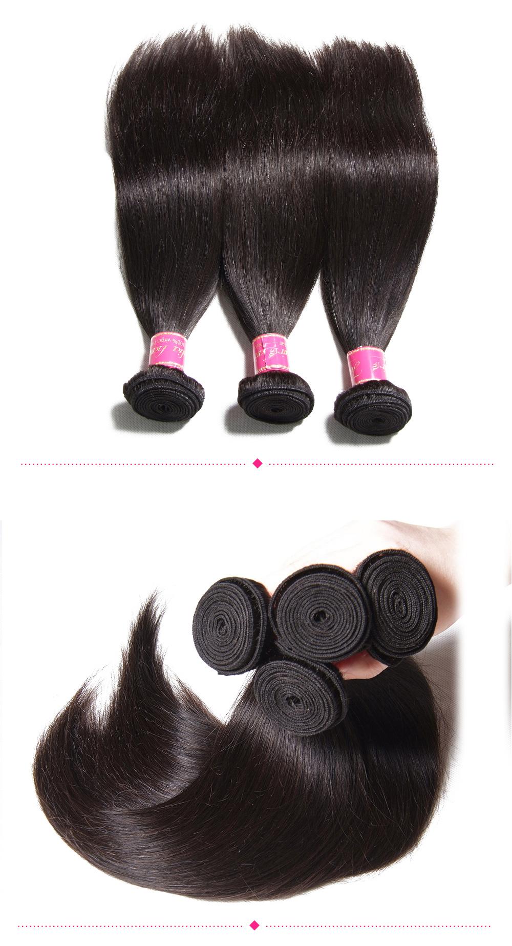 quality Brazilian straight hair bundles with closure