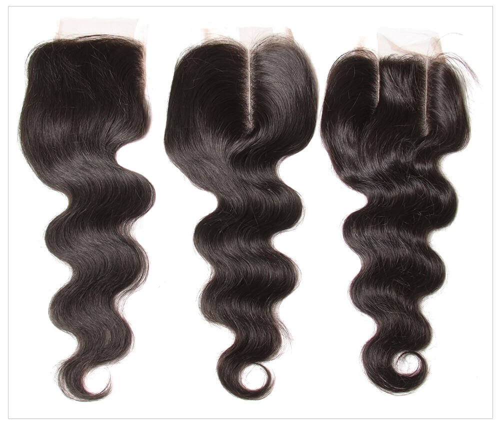 virgin Brazilian hair bundles with lace closure