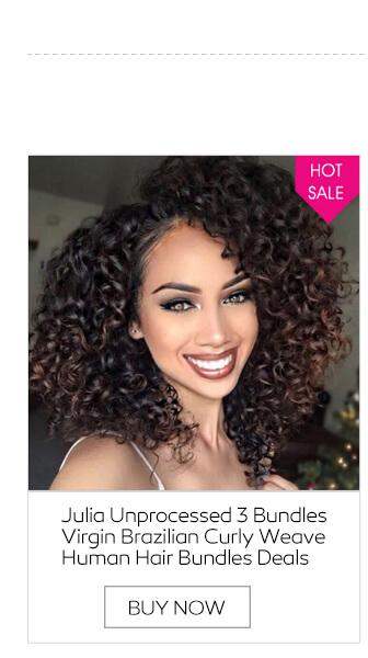 Julia unprocessed 3 bundles virgin brazilian curly weave human brazilian body wave virgin hair pmusecretfo Gallery