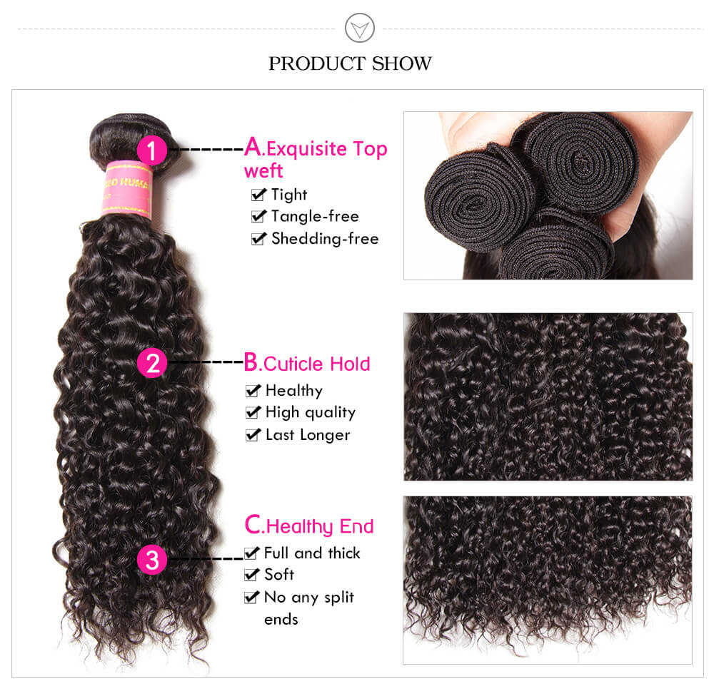 virgin Brazilian curly hair bundles