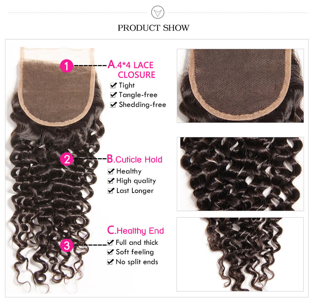 7A Unprocessed Malaysian Curly Virgin Hair