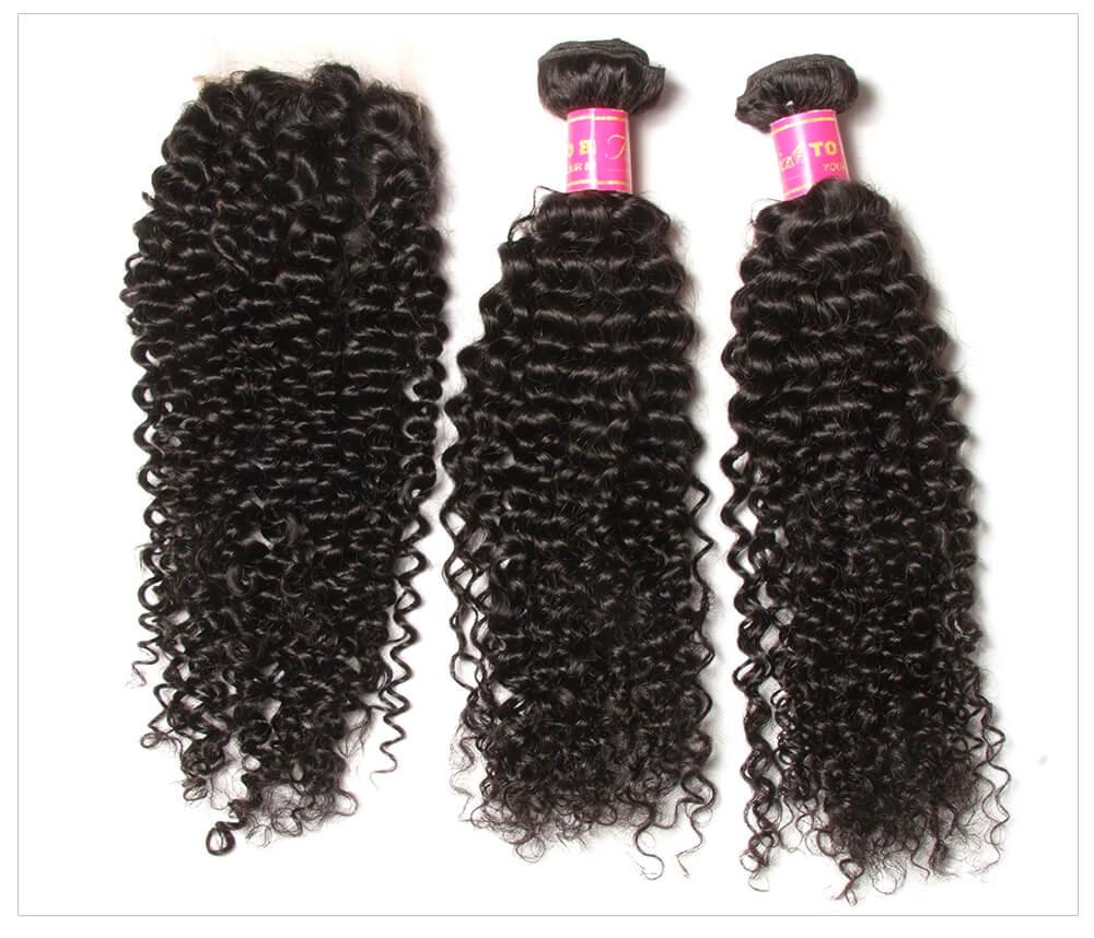 Malaysian Curly Hair Bundles With Closure