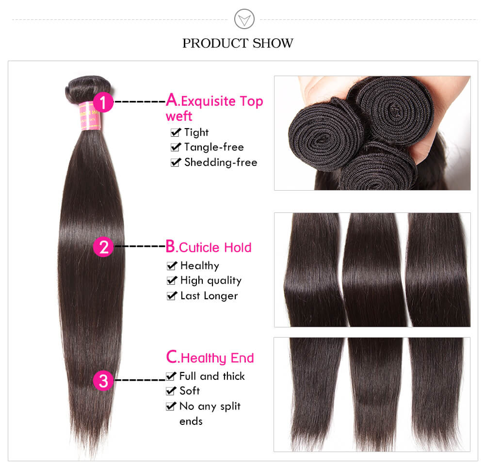 Virgin Brazilian Straight Hair Bundles