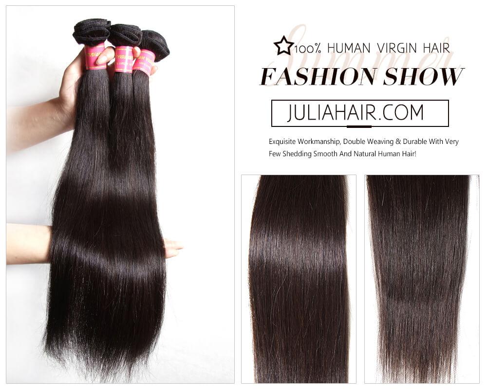Julia Virgin Brazilian Straight Hair 3 Bundles Best Straight Hair