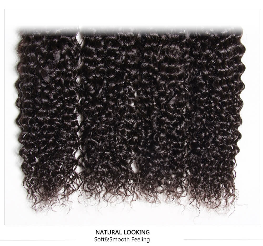 natural black real curly human hair