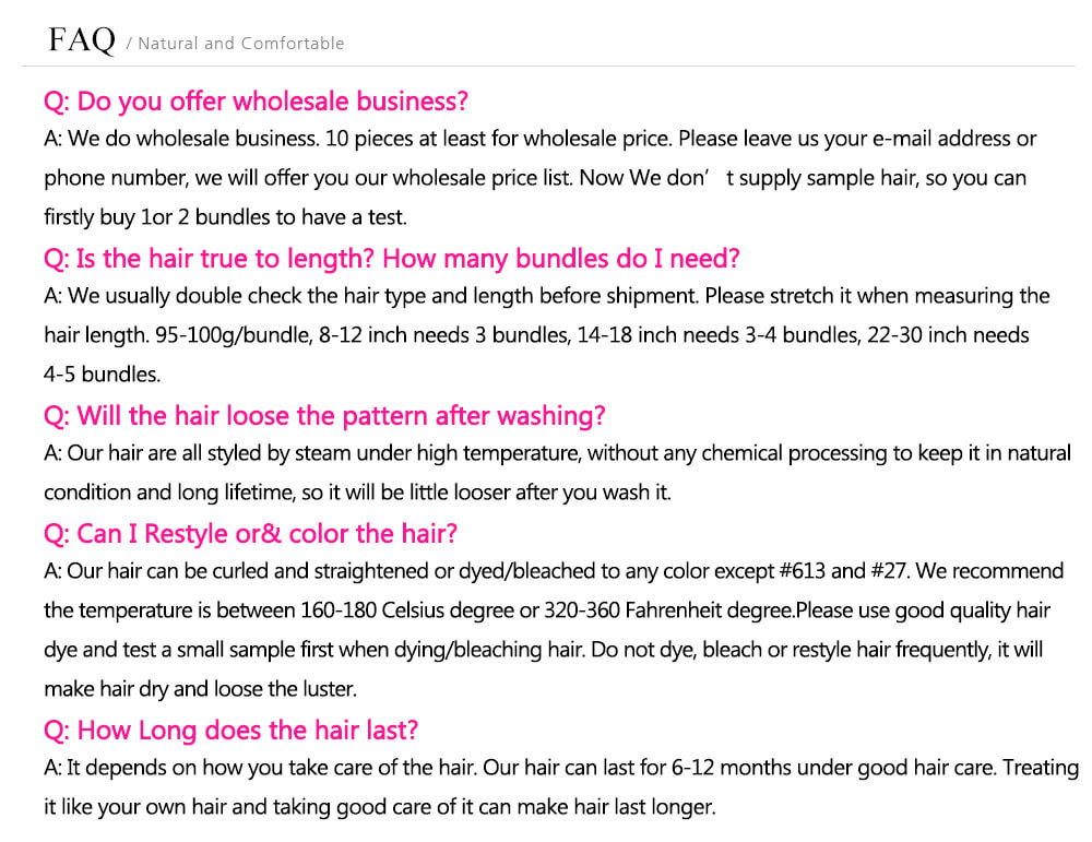 Juliahair Faq