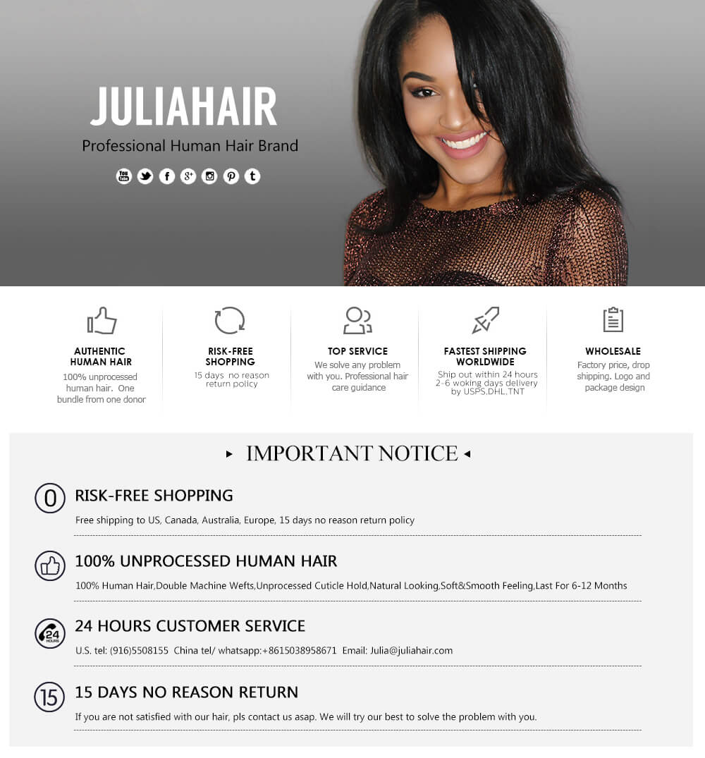 Julia Human Hair Products