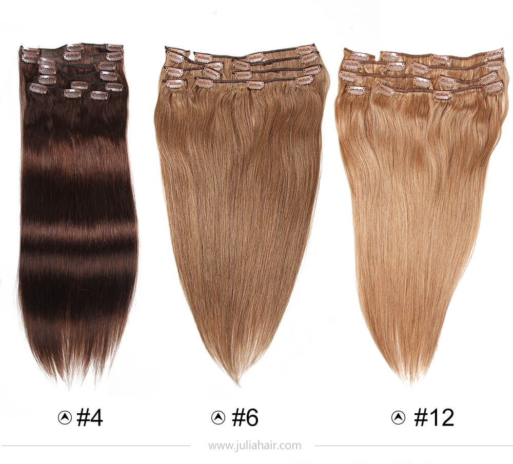 clip in human hair extensions full head