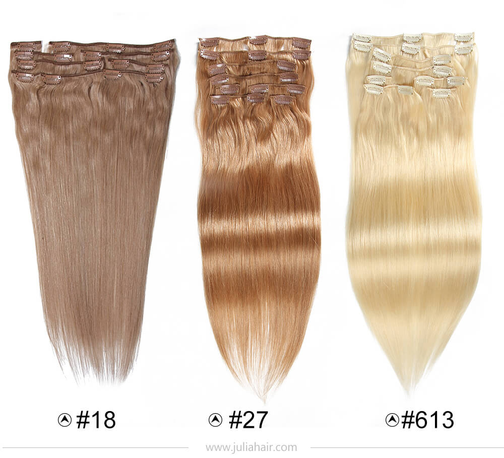 Natural Human Hair Extensions In Light Blond Hair
