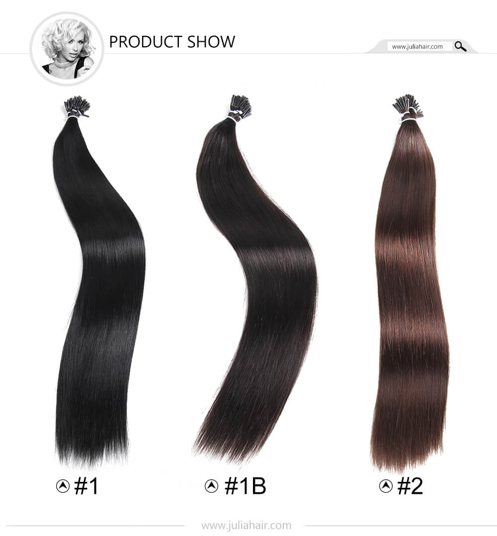 High Quality Stick I Tip Hair Extensions