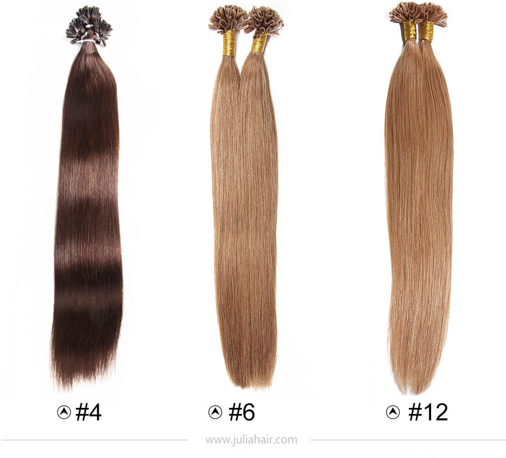 Julia Brazilian U Tip Fusion Human Hair Extensions Best Nail Hair