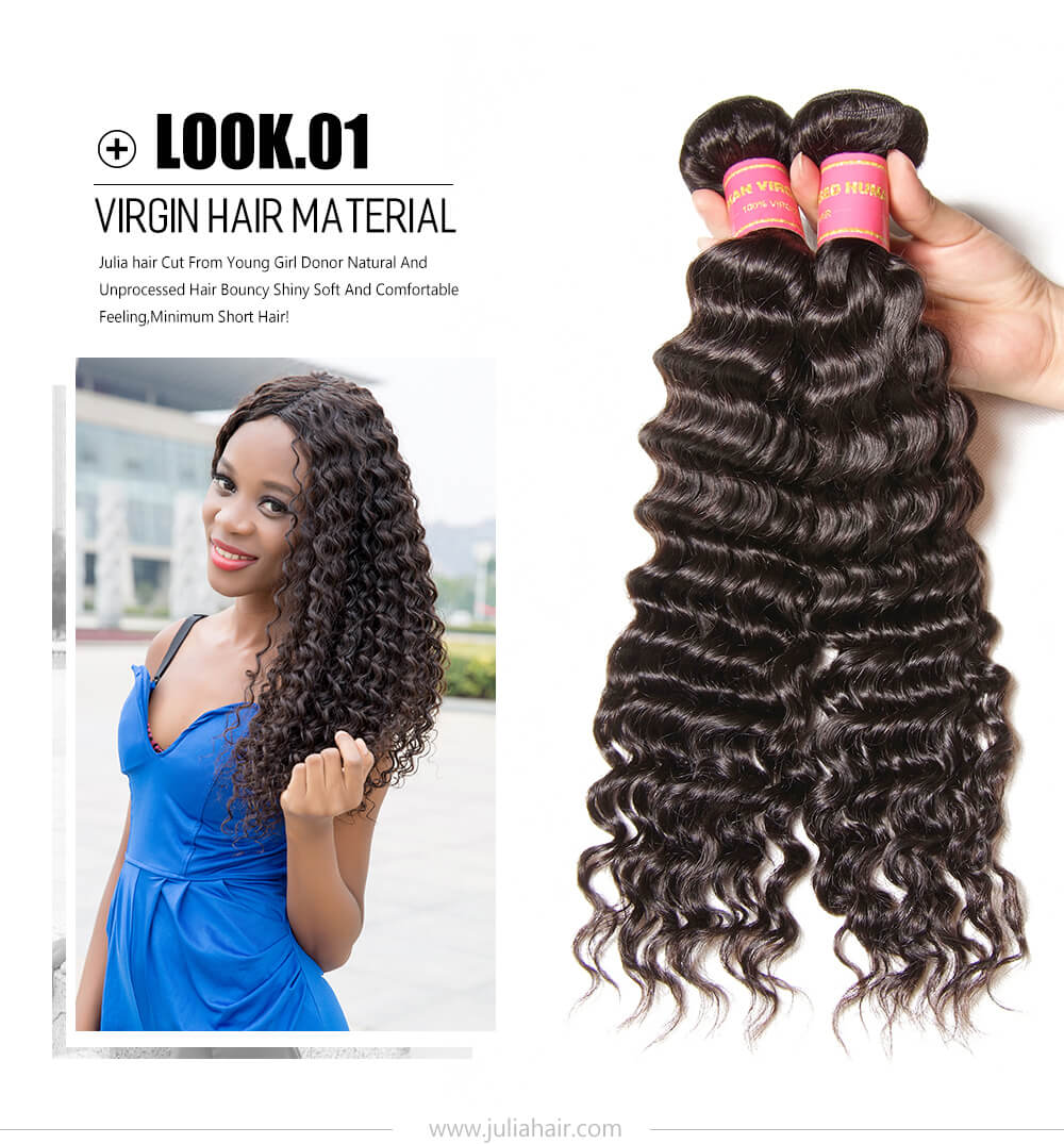 Deep Wave Virgin Hair Bundle Deals