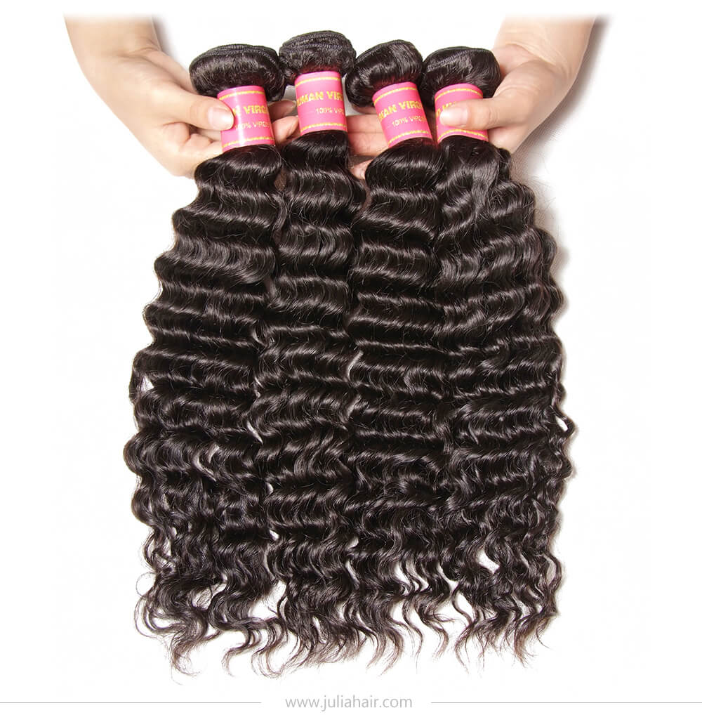 Julia Deep Wave Hair Double Weft