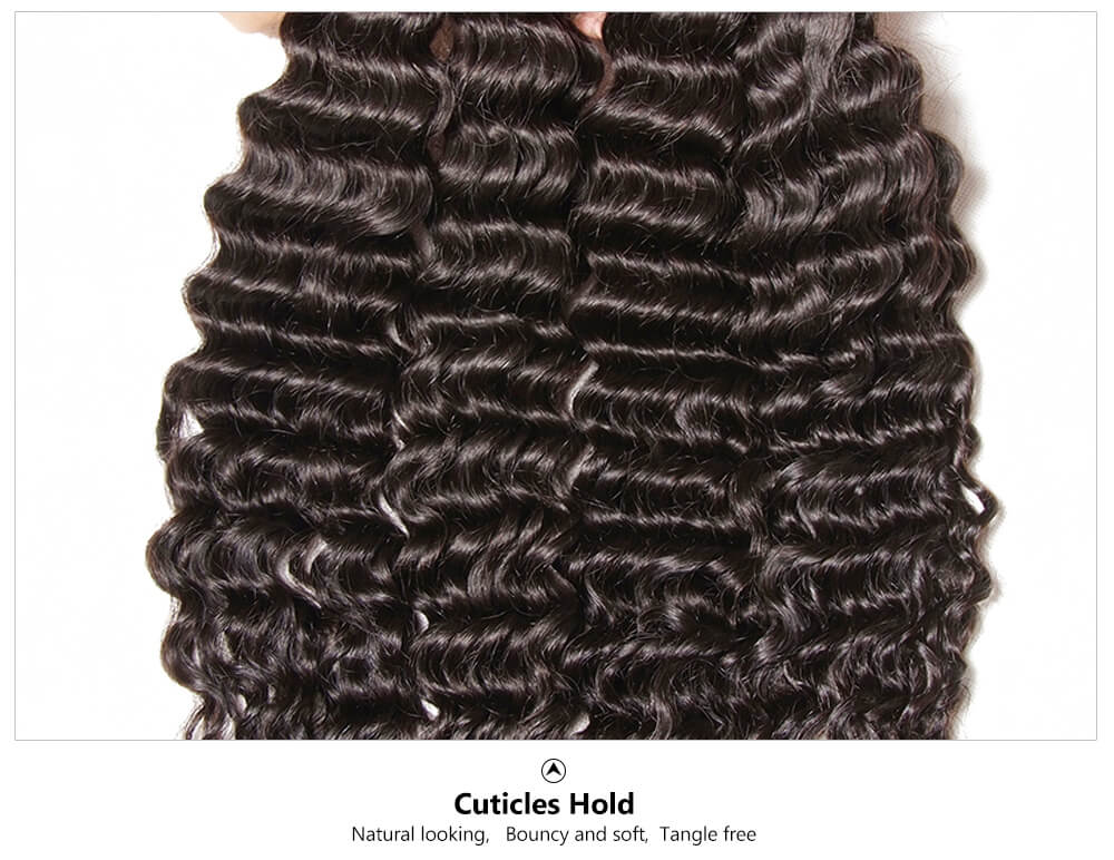 Julia 7a Unprocessed Virgin Brazilian Deep Wave Hair 3 Bundles Human