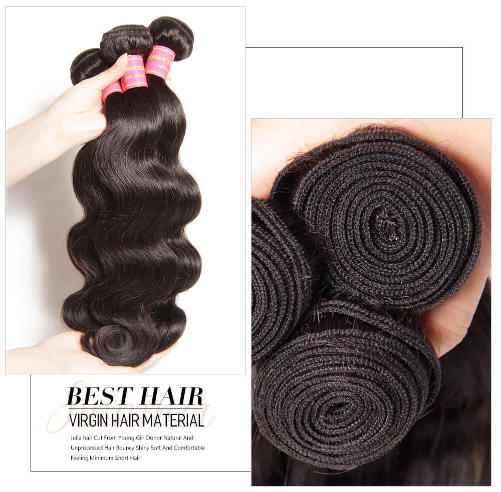 Peruvian virgin hair weave bundles