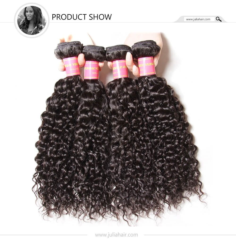 Peruvian curly hair 4 bundles