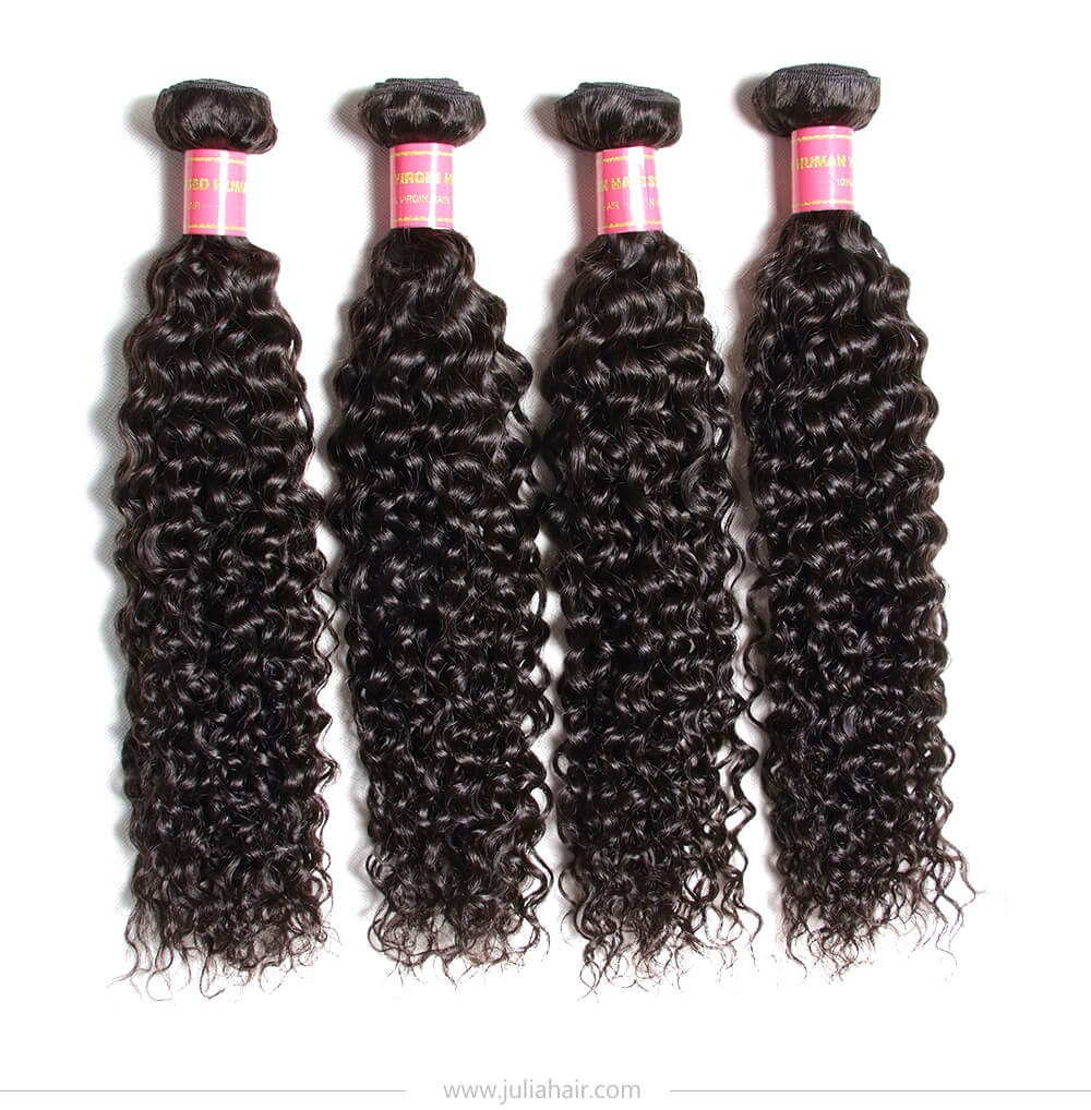 virgin curly human hair weave bundles