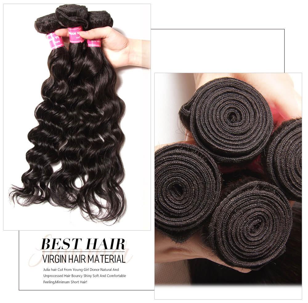 Unprocessed Natural Wave Human Hair