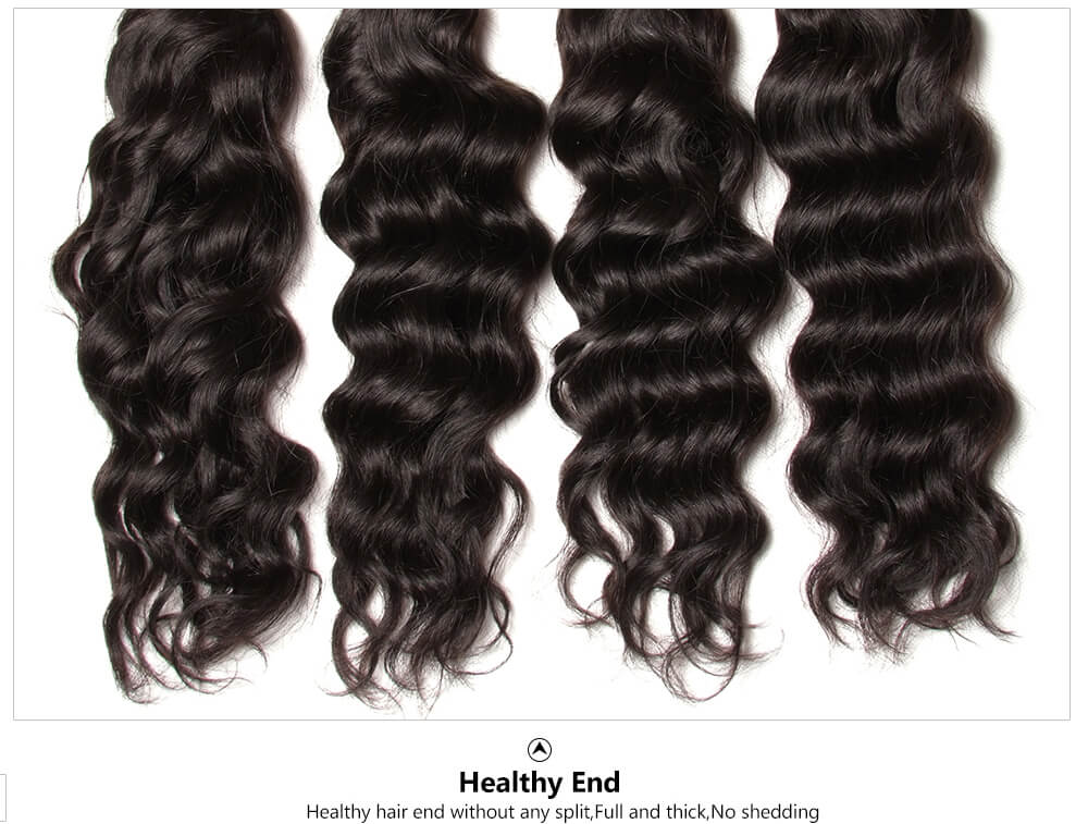 unprocessed natural wavy hair extension