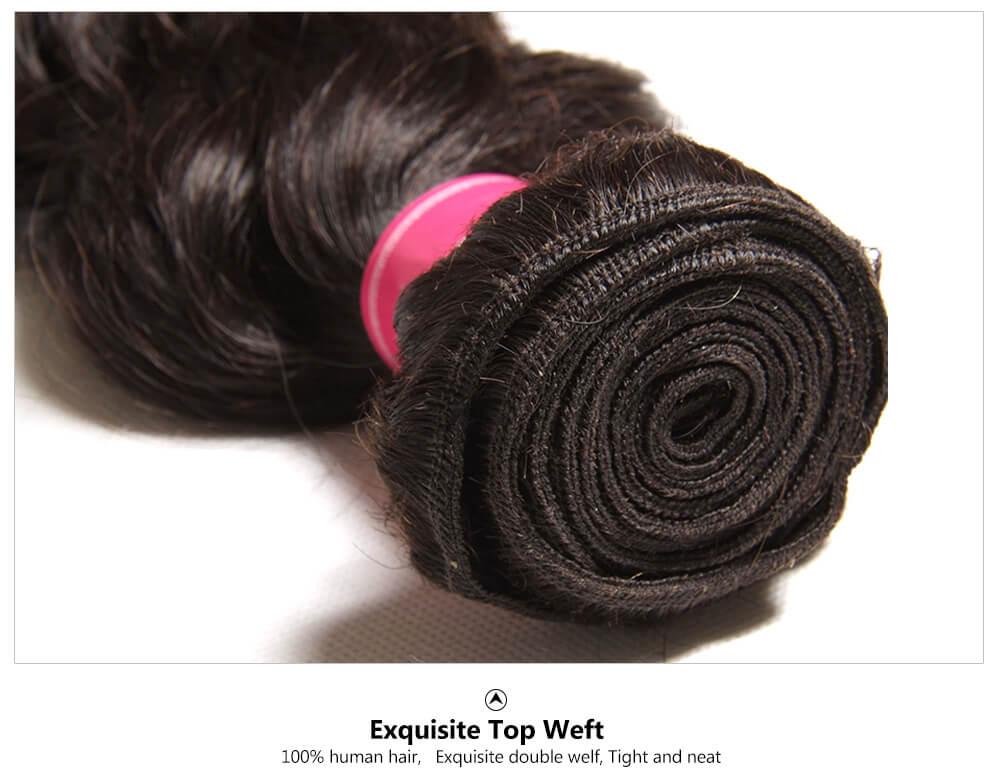 natural wave human hair bundles