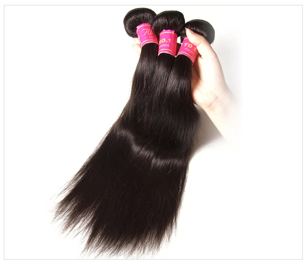 4 bundles straight hair weave bundle deals