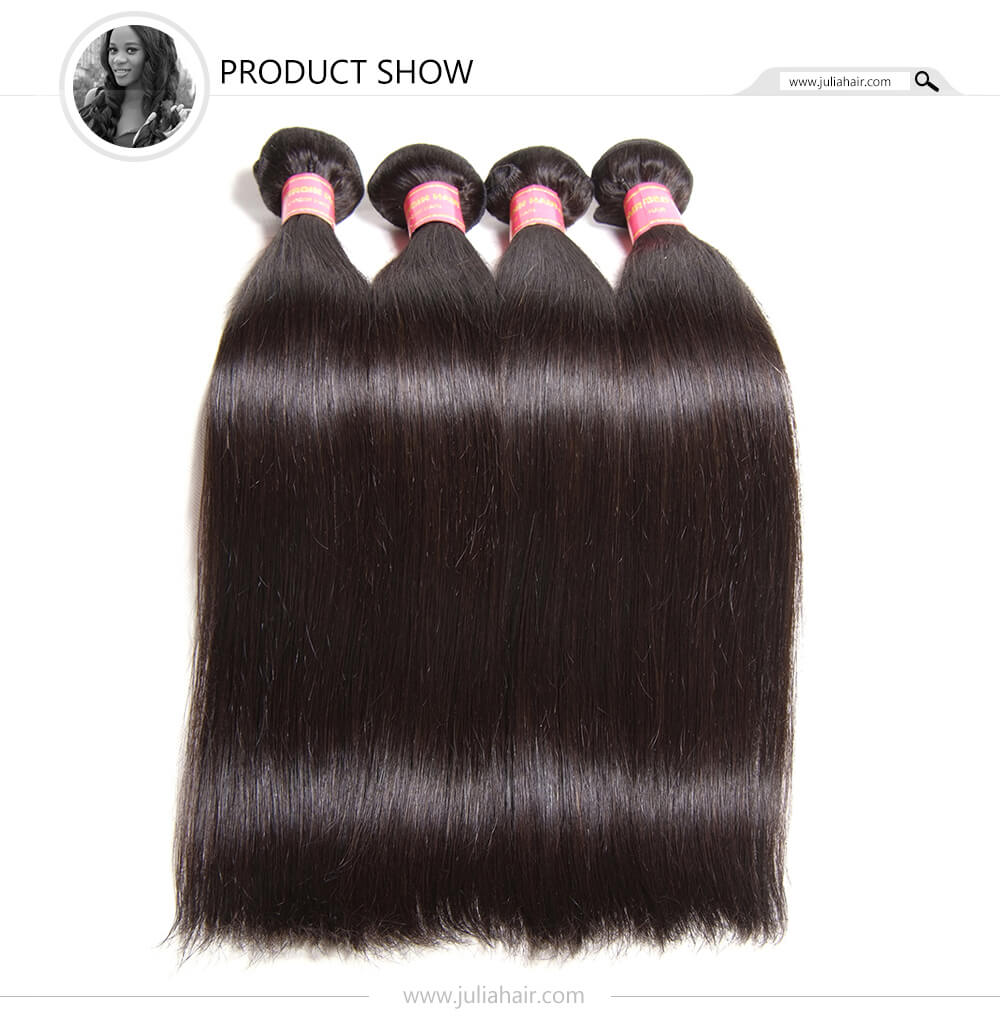 Julia Hair Indian Straight Human Virgin Hair Weaving