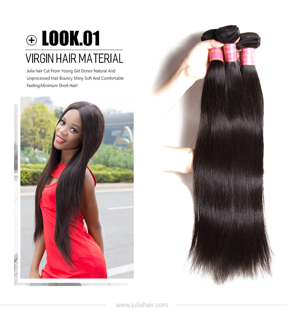 virgin Brazilian straight hair