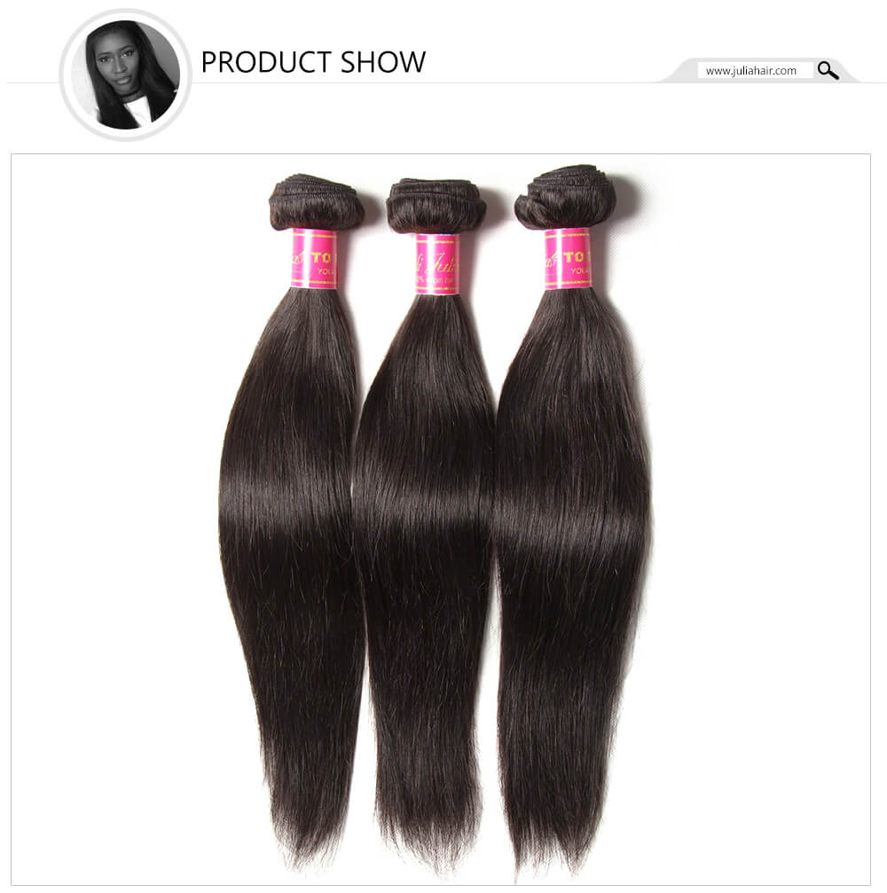 Peruvian straight hair weave 4 bundles