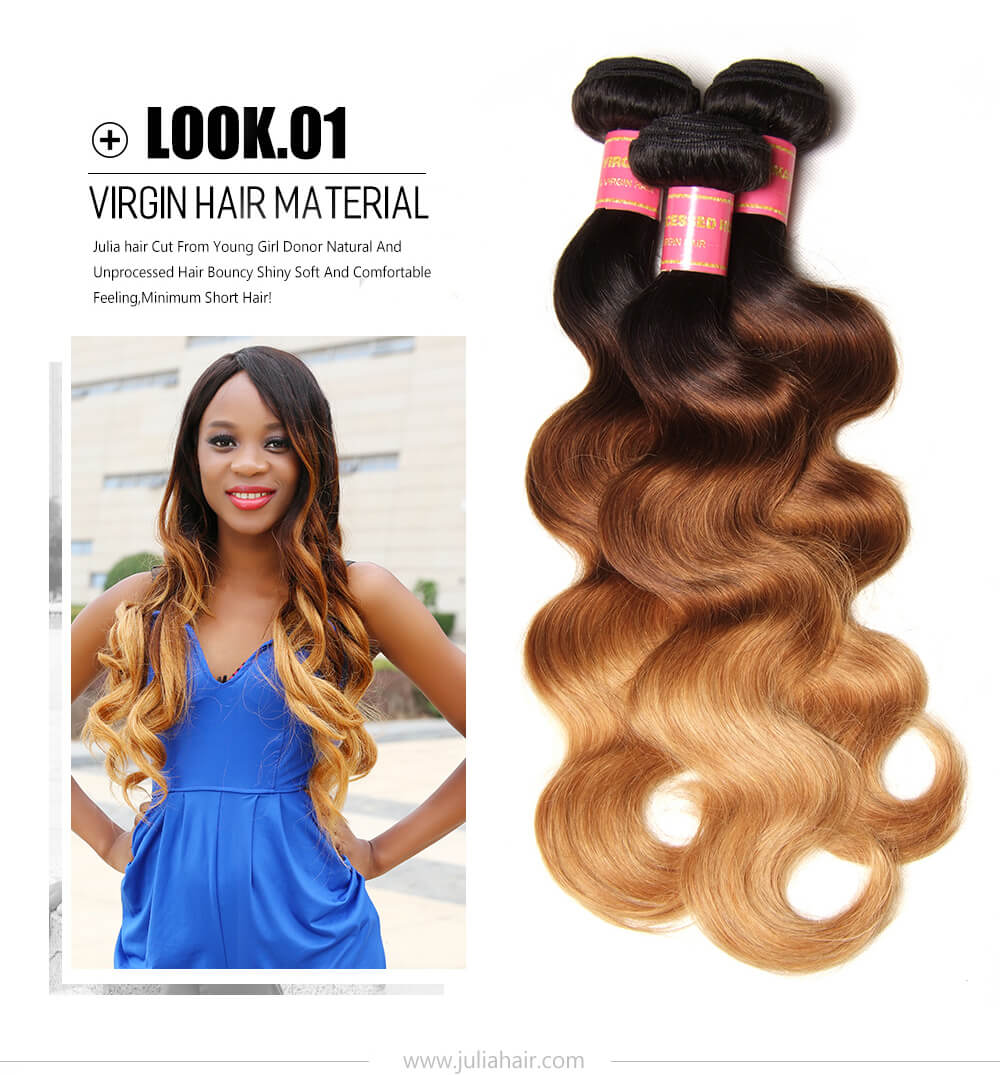 Brazilian Ombre Body Wave Human Hair