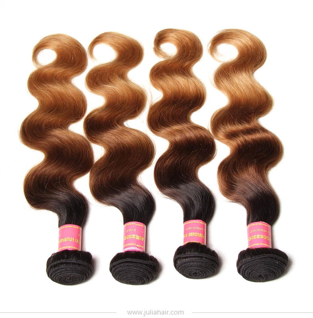 1 Bundle Of Ombre Body Wave Hair