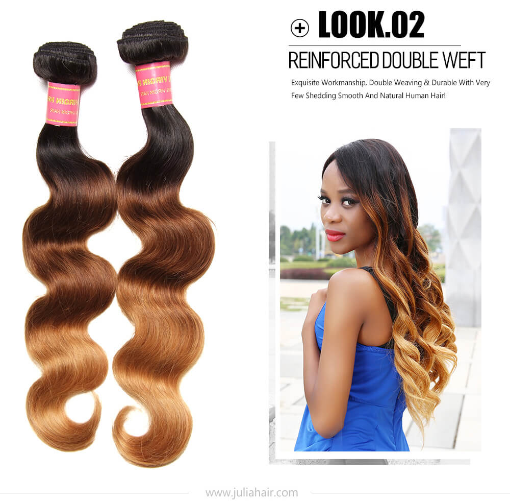 Ombre Virgin Human Hair Weave