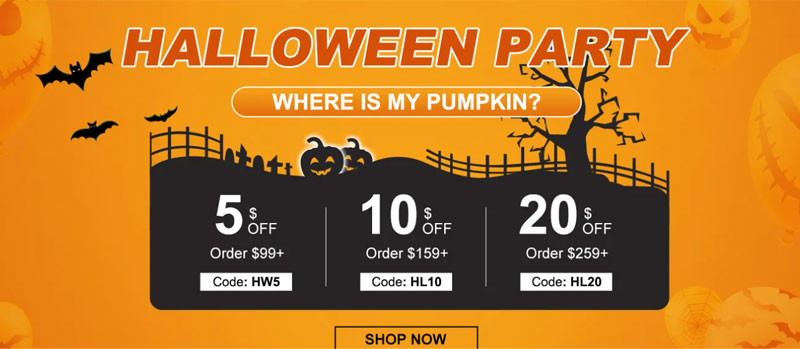 halloween sale coupon code
