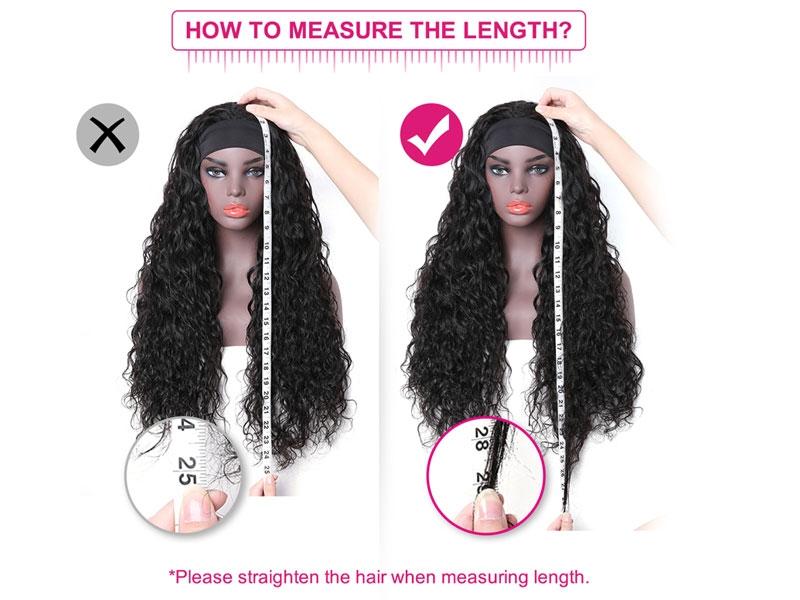 how to measure headband wig