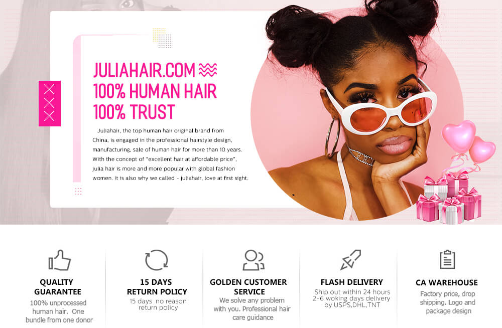 Julia #T1B613 Human Hair Products