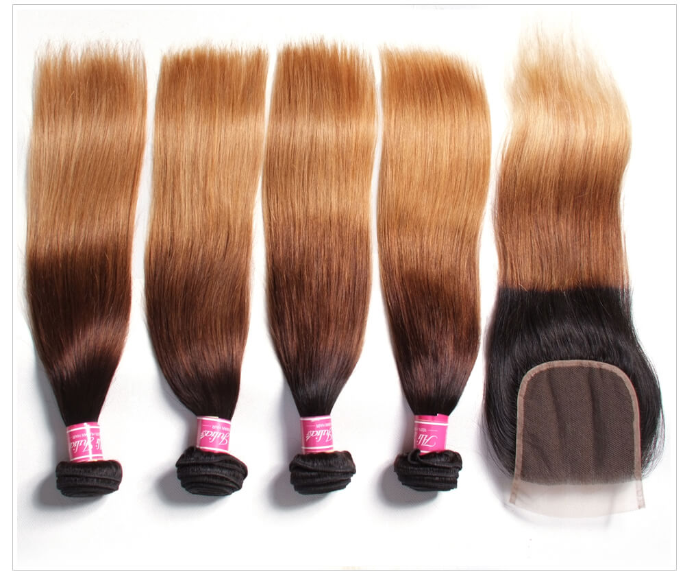 Virgin Brazilian Straight Hair With Closure
