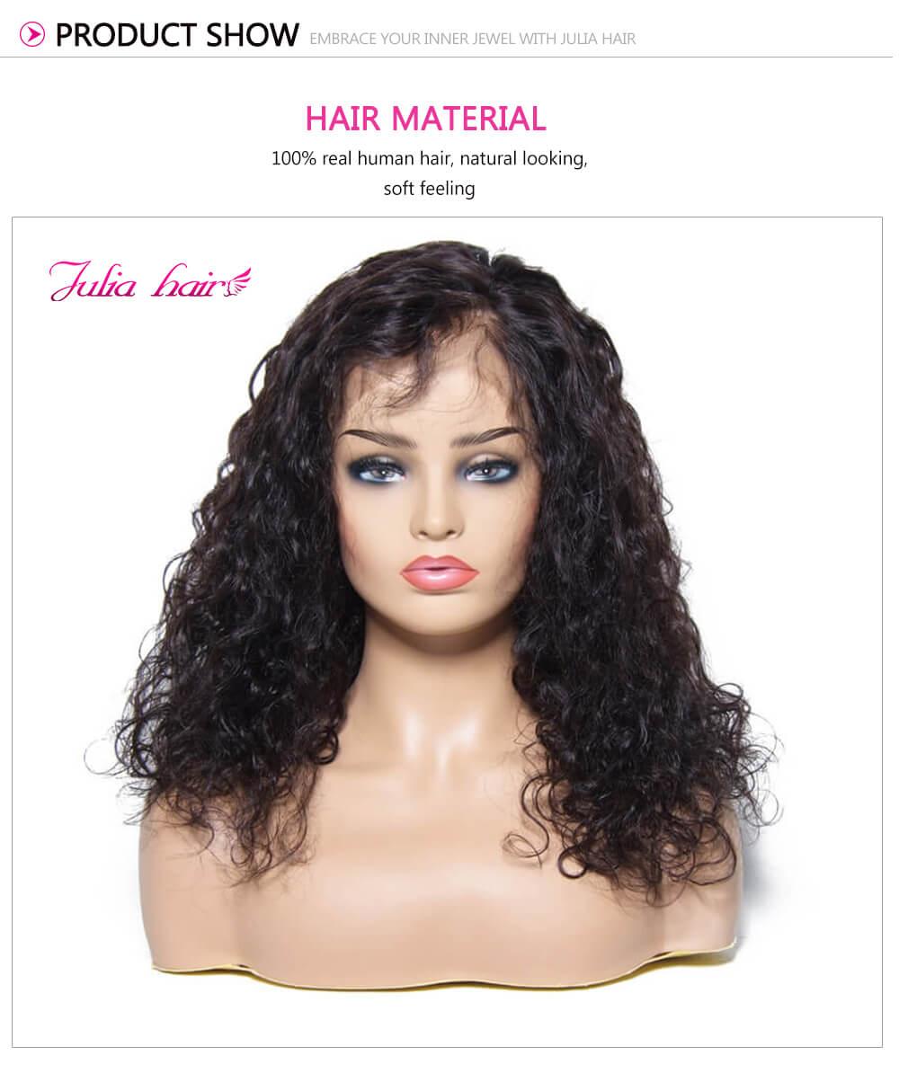 100% Real Human Hair Wigs