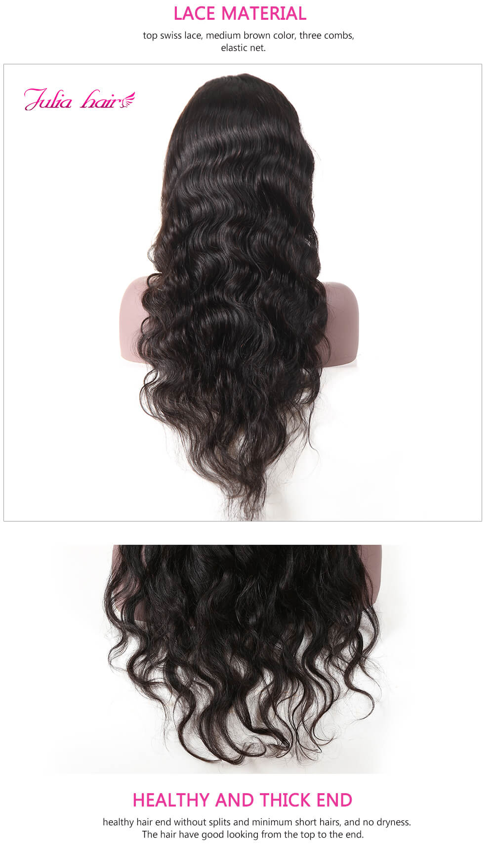 Natural Color Body Wave Lace Front Wigs With Baby Hair