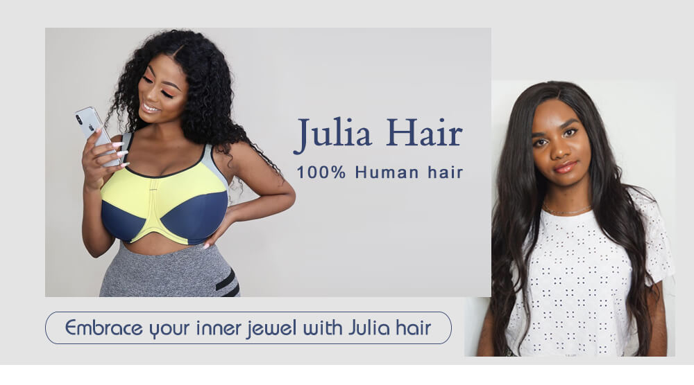 Julia Curly Human Hair Wigs