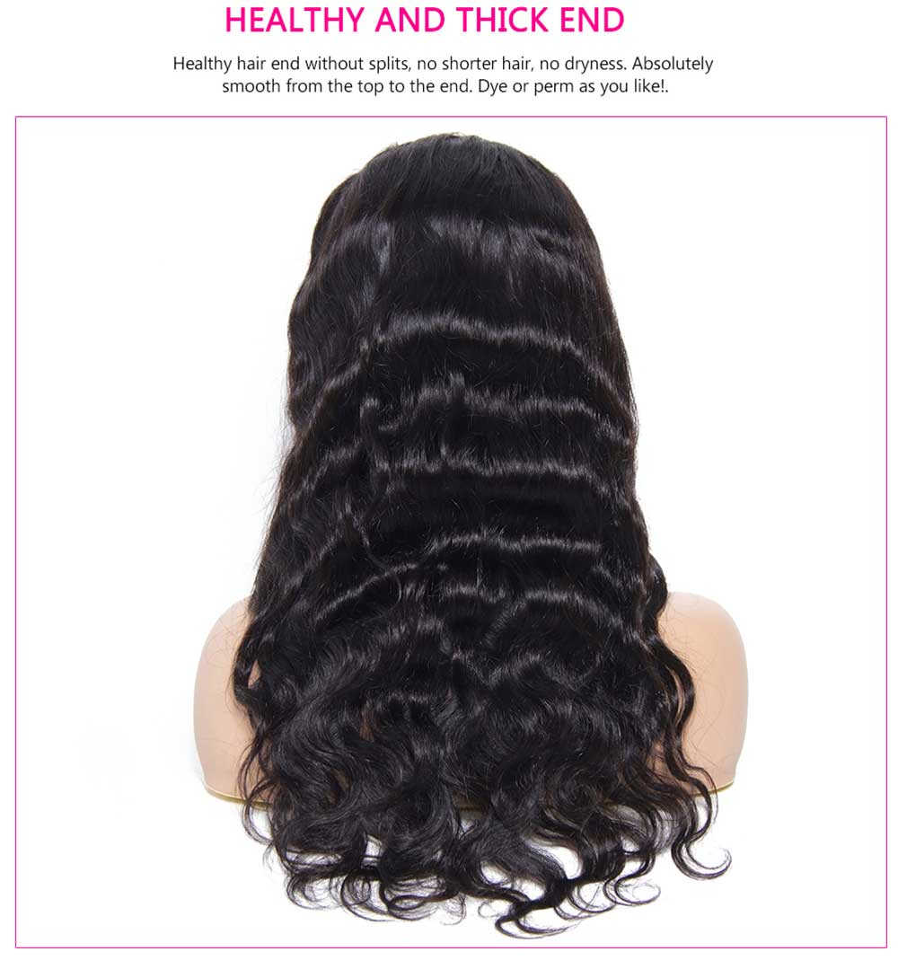 100% Human Hair Pre Plucked Wigs For Women