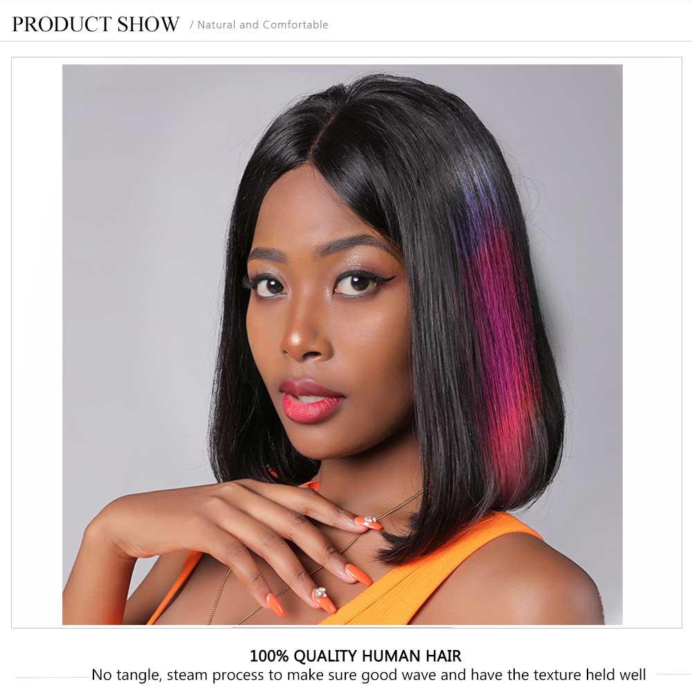 Short Bob Lace Front Wig Natural Color