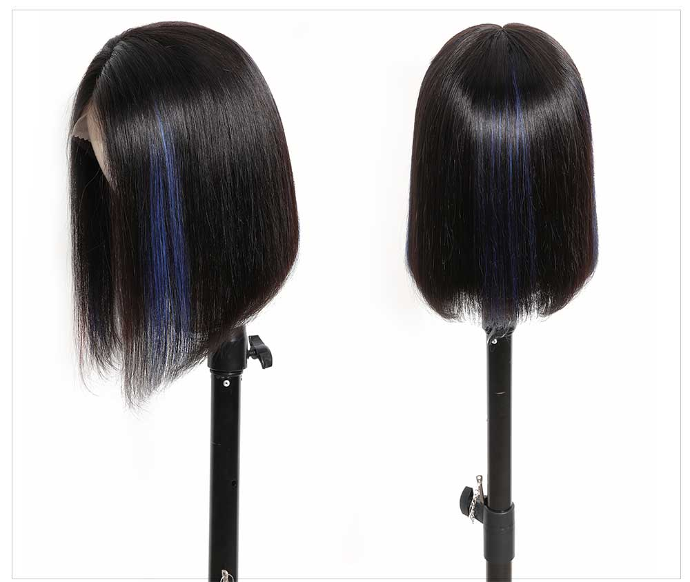 Brazilian Straight Human Hair Short Wig