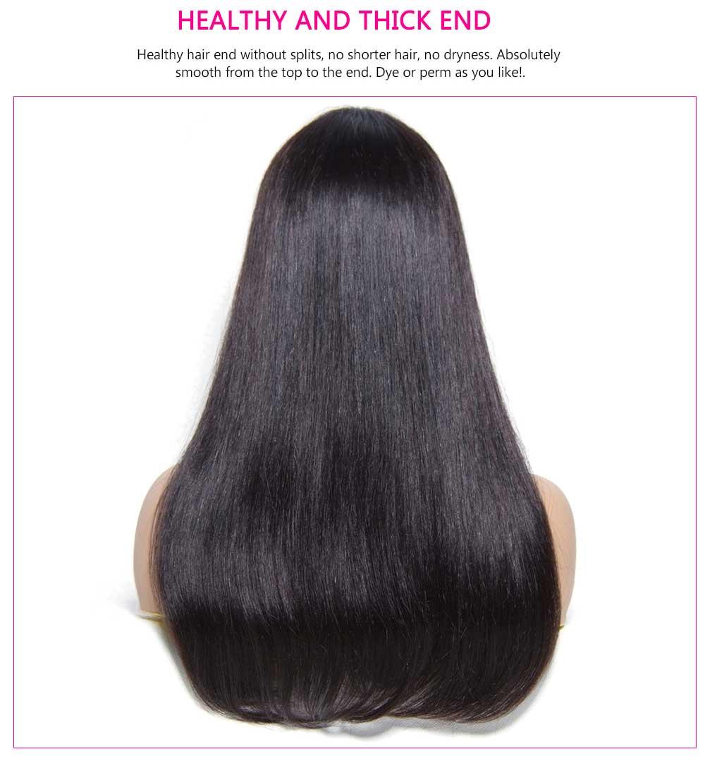 Cheap Straight Machine Made Wigs Human Hair