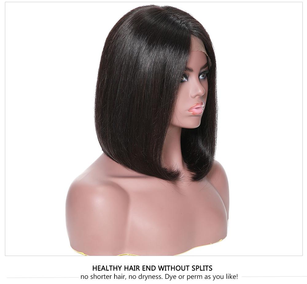 Brazilian Lace Front Shot Wigs Natural Color
