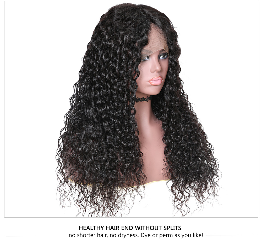180% Density Pre Plucked Lace Front Wigs Natural Color