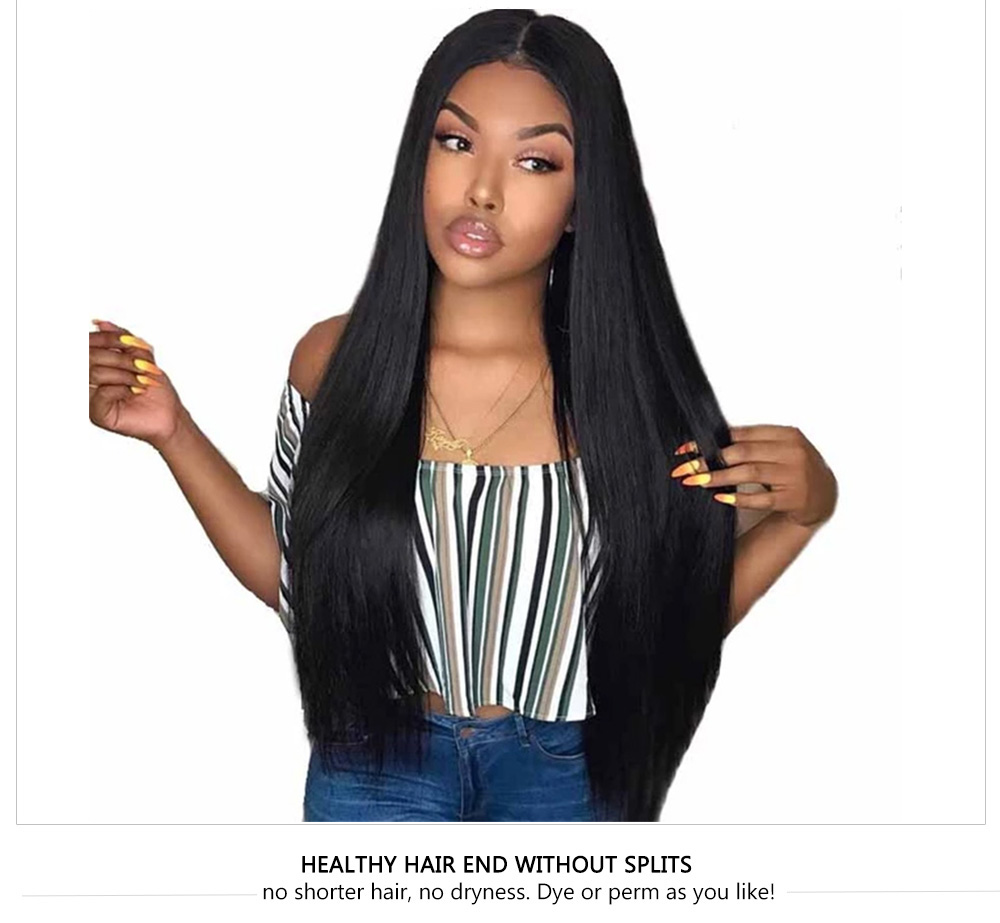 180% Density Pre Plucked Straight Wigs Natural Hair