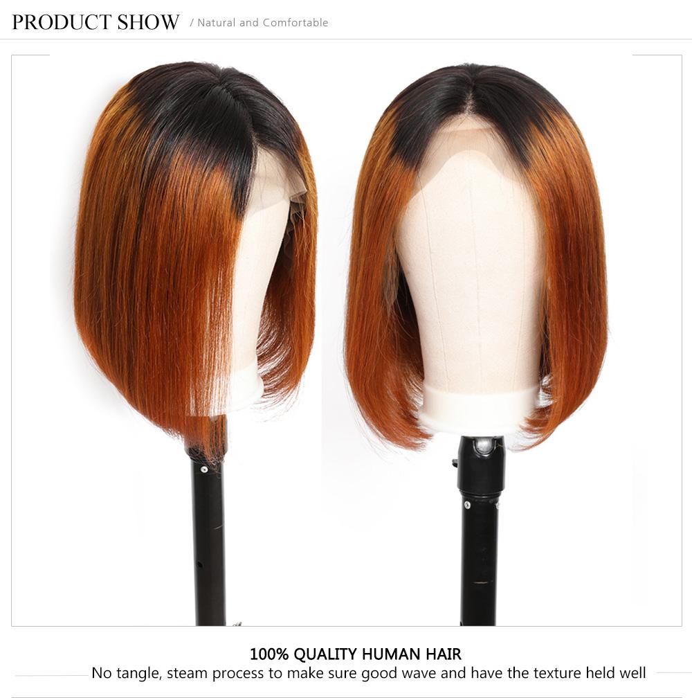 Ombre Straight Bob Wigs For Black Women
