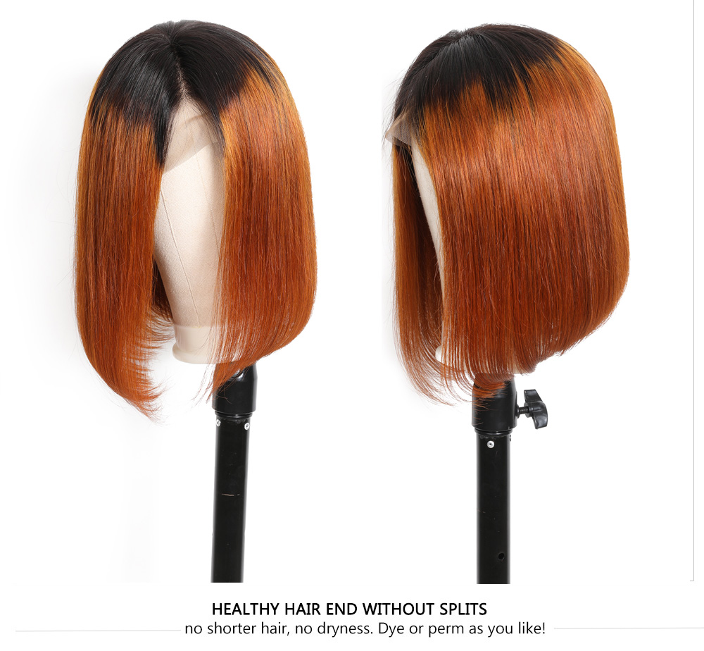 8A Lace Front Short Straight Bob Wigs