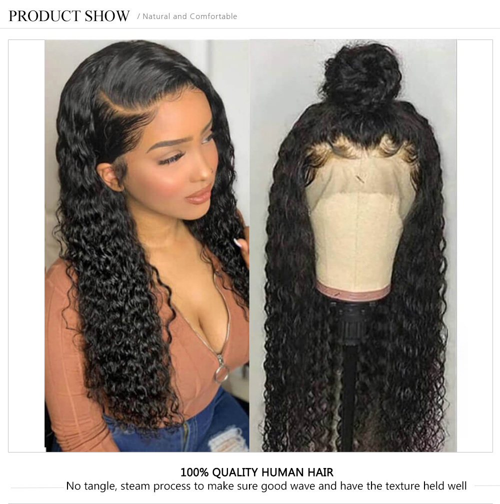 360 Lace Frontal Curly Human Hair Wigs For Black Women