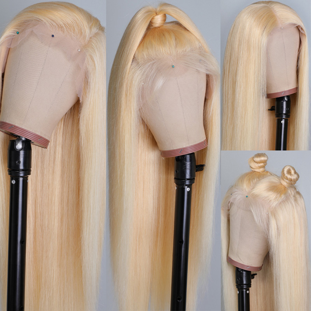 Blonde 360 Lace Frontal Wigs Human Hair