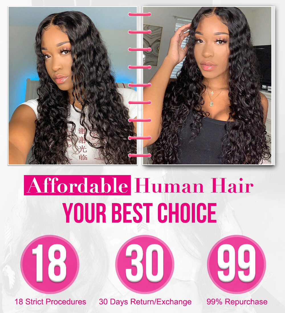 Deep Wave Hair Wig Lace Front
